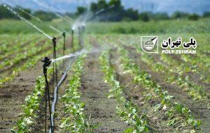 بهینه کردن مصرف آب در کشاورزی با لوله آبیاری پلی اتیلن